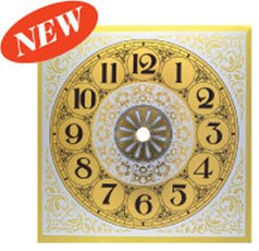 Clock Parts New Brushed Gold Metal Arabic Clock Dial